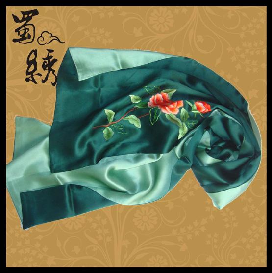 蜀绣实用品-围巾图片